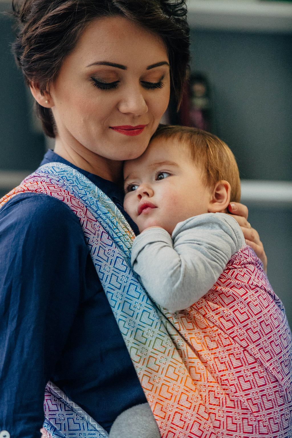Lenny Lamb Woven Wrap - Big Love Rainbow - 4.2m only - Slings and Things