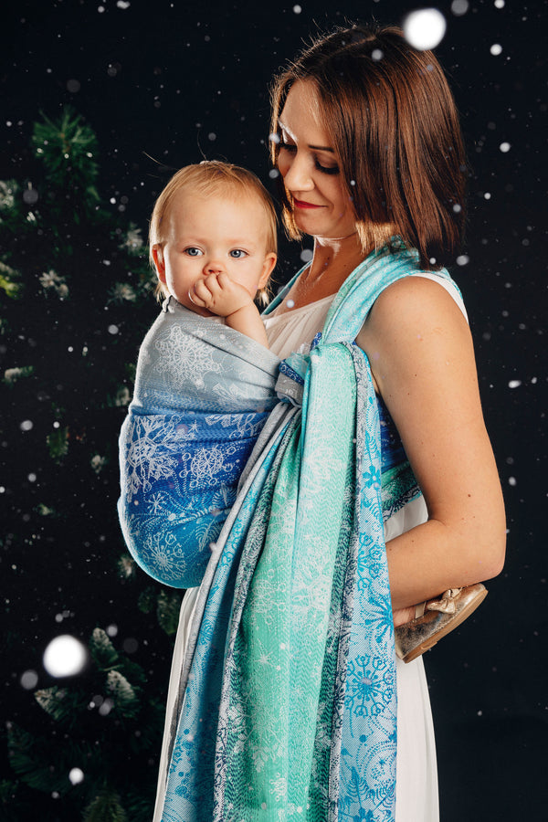 Lenny Lamb Woven Wrap - Snow Queen - Magic Lake - Slings and Things