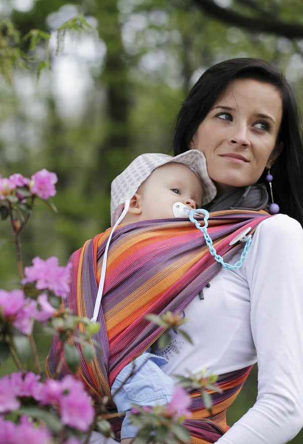 Lenny Lamb Bamboo / Cotton Woven Wrap - Sunset Rainbow - Slings and Things