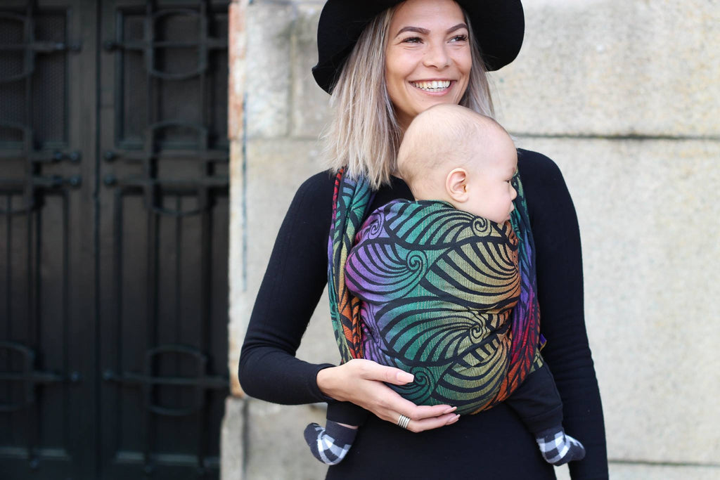 Yaro Woven Wrap - Dandy Black Autumn Rainbow - Slings and Things