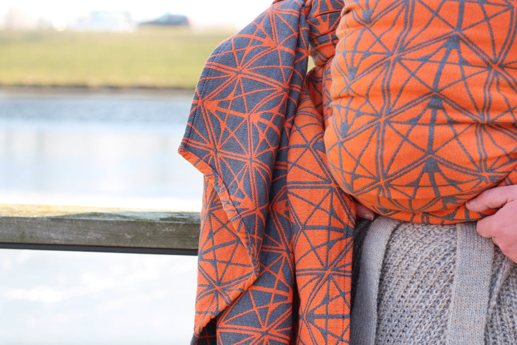 Yaro Ring Sling - Foxes Contra Grey Orange