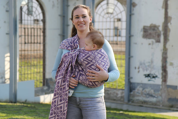 Yaro Ring Sling - La Vita Duo Fuchsia Turkis Seacell Kapok - Slings and Things