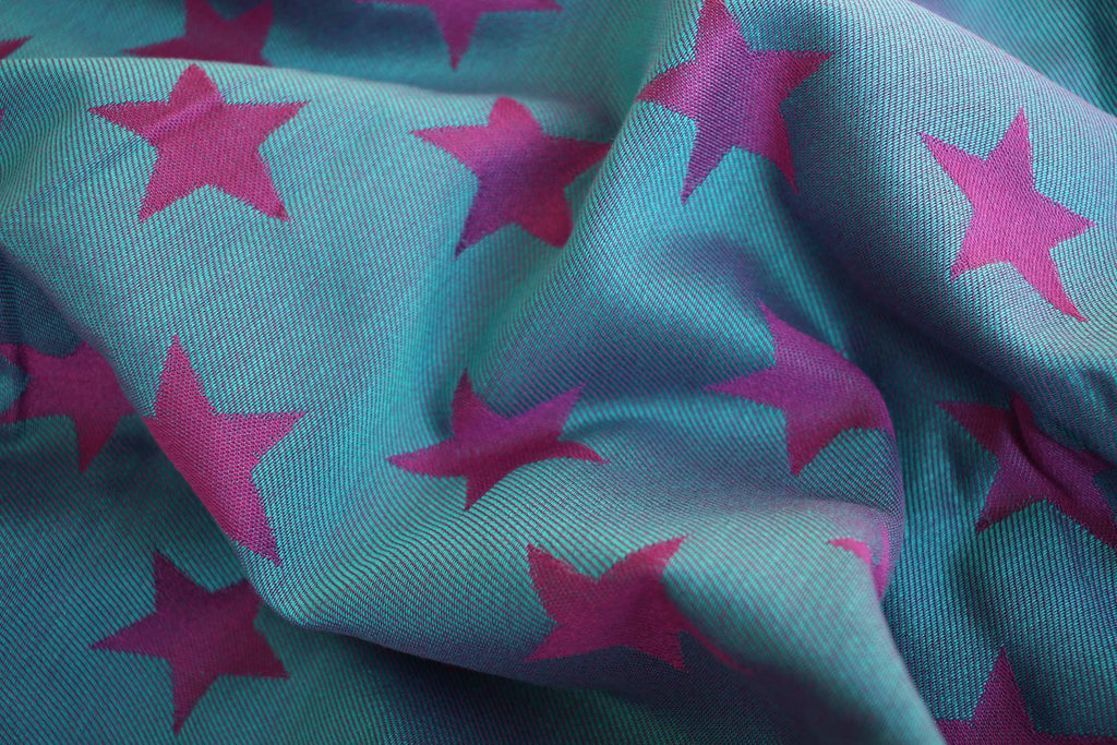 Yaro Ring Sling - Stars Purple Turkis Tencel