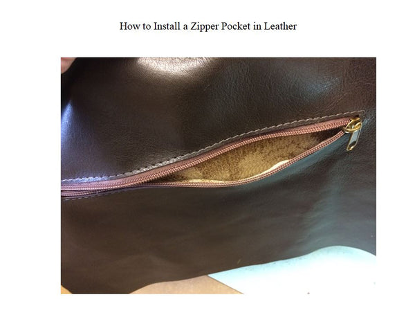 How to Install a Zipper Pocket in Leather