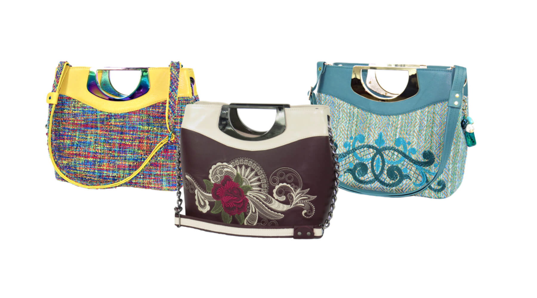 Fifth Avenue Leather and Tapestry Handbags made in USA
