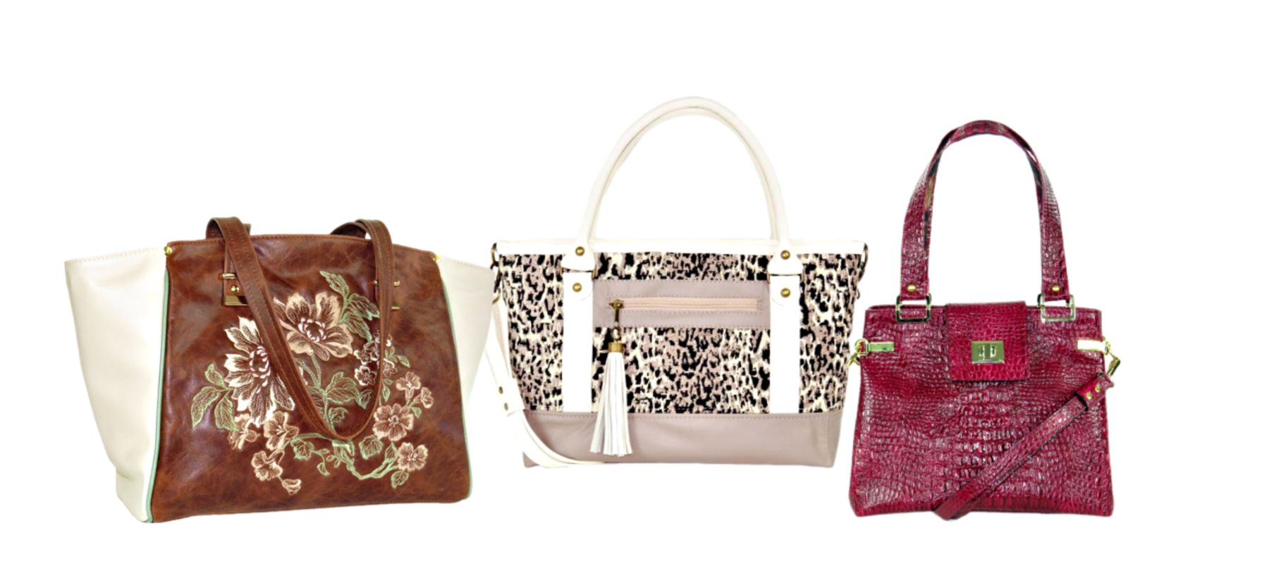 Leather and tapestry totes handmade in usa