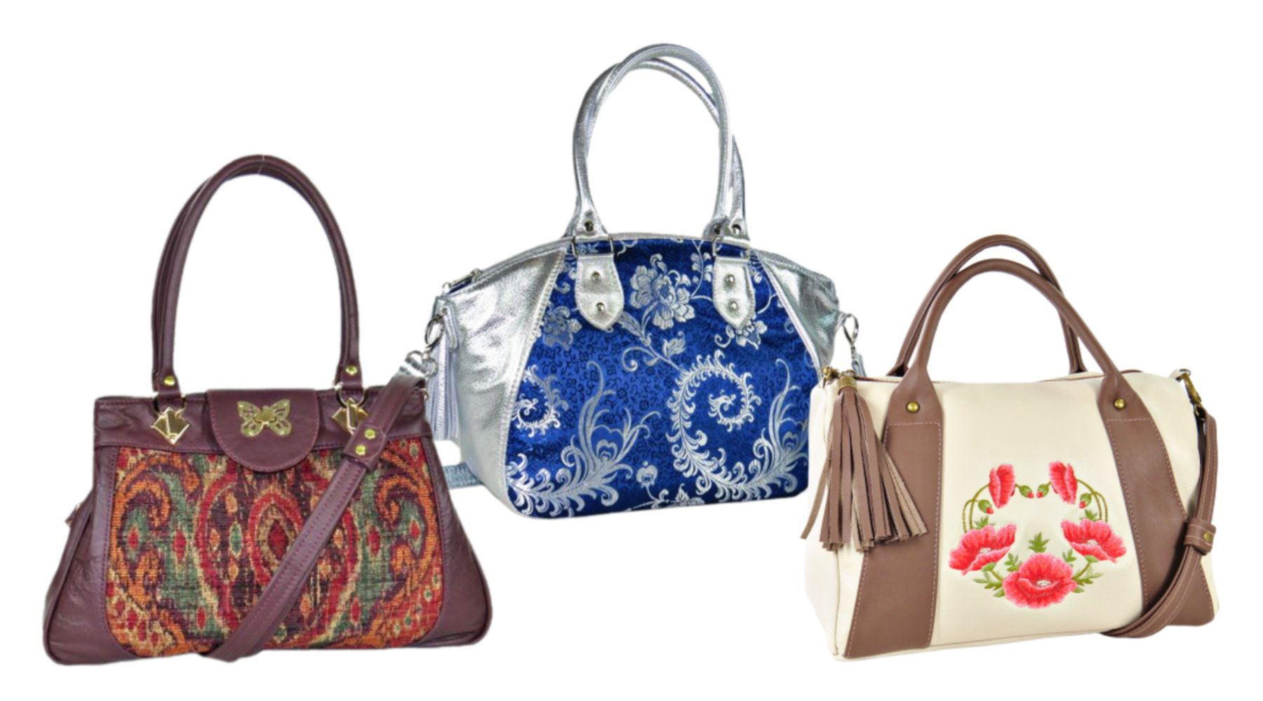 Handmade Leather and Tapestry Satchels Made in the USA