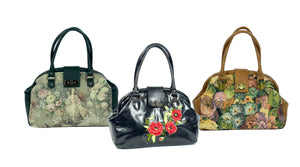 Leather and Tapestry Mary Poppins Doctor Bags made in USA