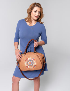 leather satchel handbags made in usa