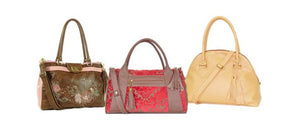 Leather and Tapestry Satchel Handbags made in USA