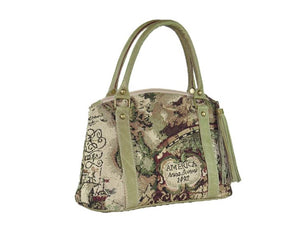 American Map Tapestry Satchel