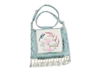 Asian Embroidered Boho Gypsy Fringe Bag