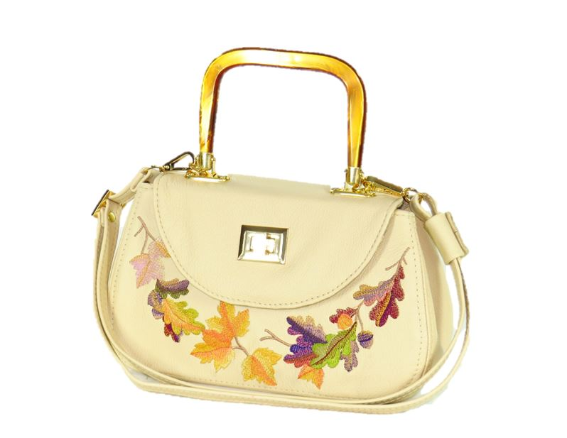 Autumn Garland Mini Top Handle Bag