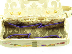 Autumn Garland Mini Top Handle Bag interior view