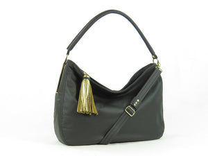 Basic Black Leather Slouchy Hobo