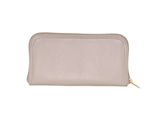 Beige Leather Wallet back view