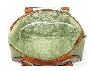 Bohemian Bloom Satchel interior pockets