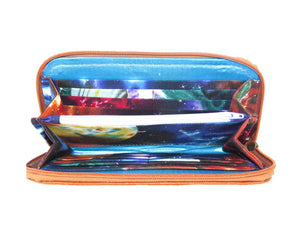 Bohemian Bloom Satchel wallet interior