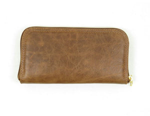 Brown Leather Wallet back view