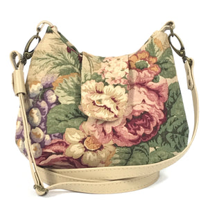 Cabbage Roses Cottagecore Mini Hobo Bag