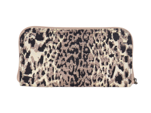 Cheetah Chenille Wallet back view