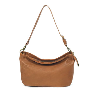 Cognac Brown Leather Slouchy Hobo