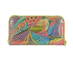 Colorful Fish Leather Wallet back view