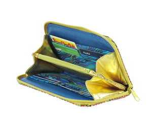 Colorful Fish Leather Wallet interior
