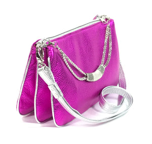 Emma Triple Pouch Crossbody side view