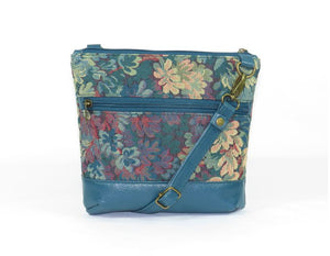 Enchanted Forest Leather and Tapestry Crossbody