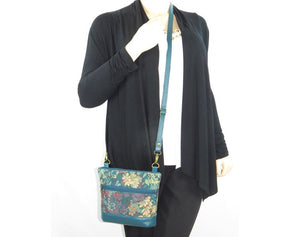 Enchanted Forest Leather and Tapestry Crossbody model view