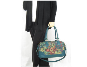 Enchanted Forest Leather and Tapestry Overnight Bag model view