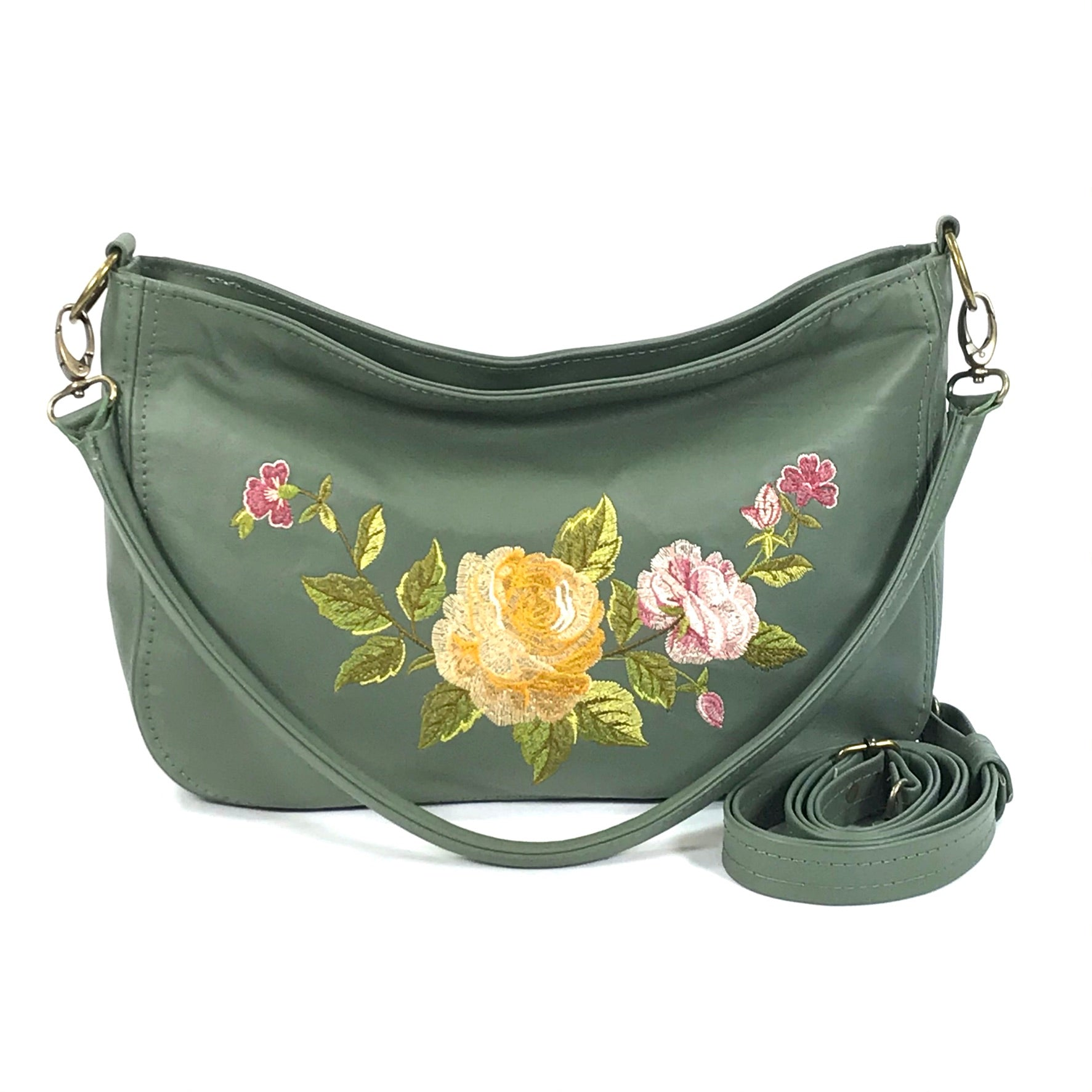 End of Summer Roses Slouchy Hobo