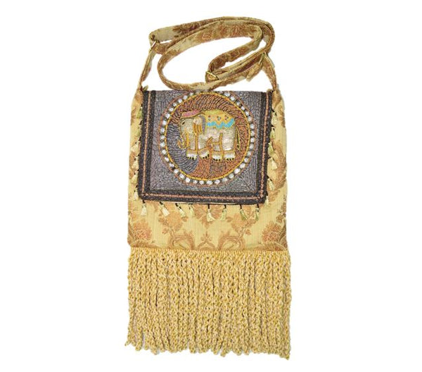 Ganesh Kalaga Embroidered Elephant Boho Gypsy Bag