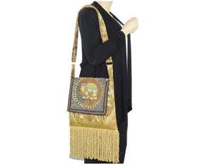 Ganesh Kalaga Embroidered Elephant Boho Gypsy Bag model
