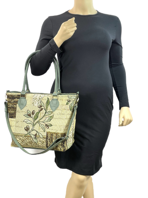 Green Olive Oversize Tote model view