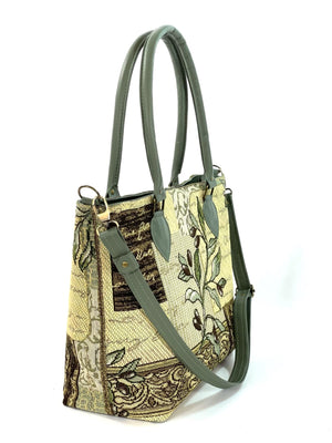 Green Olive Oversize Tote side view