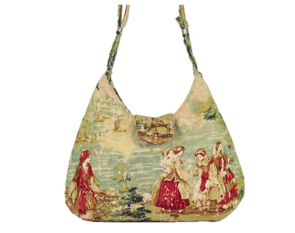 Gypsy Countryside Toile Boho Crossbody Bag