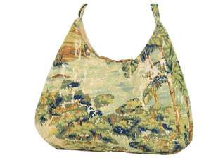 Gypsy Countryside Toile Boho Crossbody Bag back view