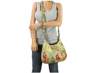 Gypsy Countryside Toile Boho Crossbody Bag plain model