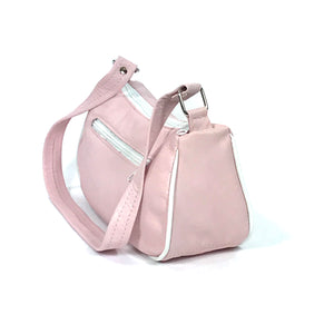 Baby Pink Leather Mini Shoulder Bag side view
