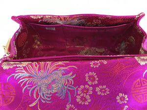 Juliette Metallic Magenta interior pockets