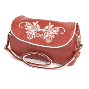 Juliette Red Leather Crossbody Handbag