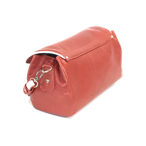 Juliette Red Leather Crossbody Handbag side view