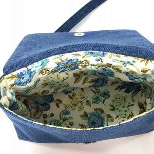 Lady of the Garden Cottagecore Mini Flap Bag interior