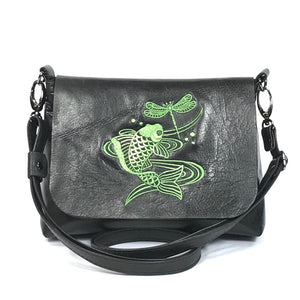 Laila's Black Leather Mini Flap Bag