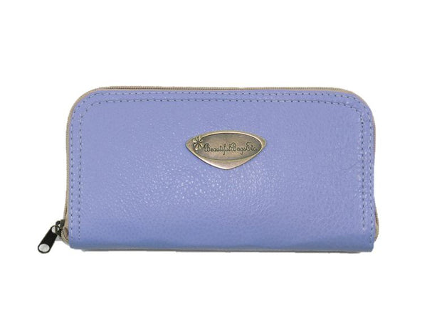 Lavender Leather Wallet