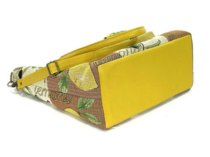 Lemon Tapestry Oversize Tote base view