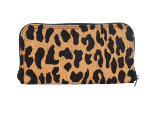 Leopard Chenille Wallet back view