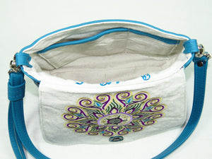 Little Mandala Messenger Cross Body Bag interior pockets